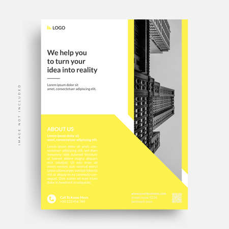modern business corporate annual report flyer brochure cover design