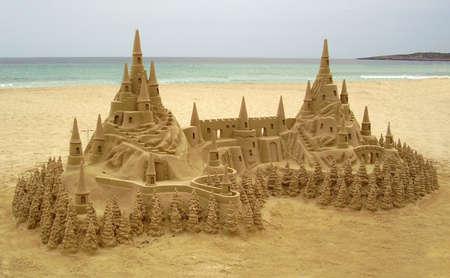 sand castle: Sand Castle      Stock Photo
