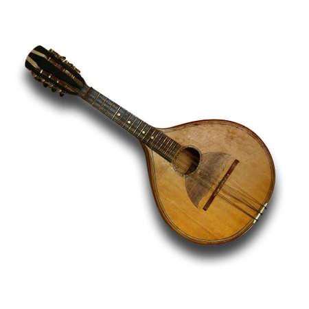 mandolino: Vecchio mandolino Archivio Fotografico