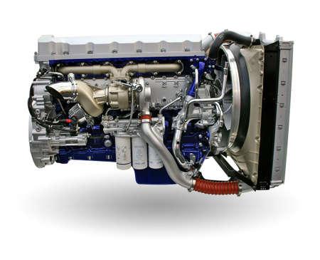 high torque: modern truck engine Stock Photo