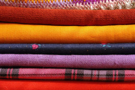 kerseymere: batch of textiles - different colors Stock Photo