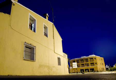 ambient light: spanish house at nighttime with ambient light