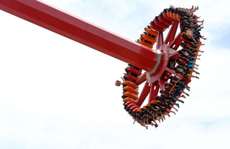 adrenaline: one of the adrenaline rich attractions (pendulum?) in entertainment park Stock Photo