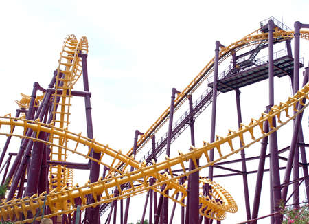 adrenaline: one of the most adrenaline making attractions in  entertainment parks - multi-level and multiway railway
