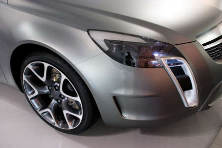 ligh: Wheel and light of a yet to be produced high tech future sports car