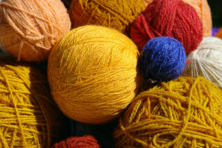 Different Color and Size Yarn Balls Stock Photo - 3031946