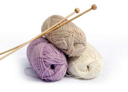 listo para la artesan�a - alta calidad de bamb� agujas e hilos bolas  Foto de archivo - 3180496
