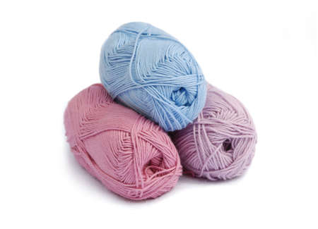 selection of pastel tone yarn balls Stock Photo - 3180497