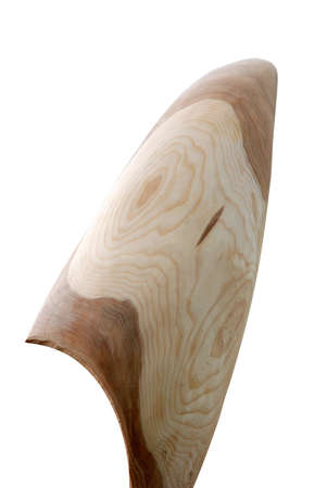 burnish: Simple Wood Shape Against White Background