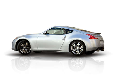 Modern Sports Car - Isolated over White Background Stock Photo - 9463007