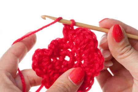 Crochet Motiv mit Bambus Häkelnadel