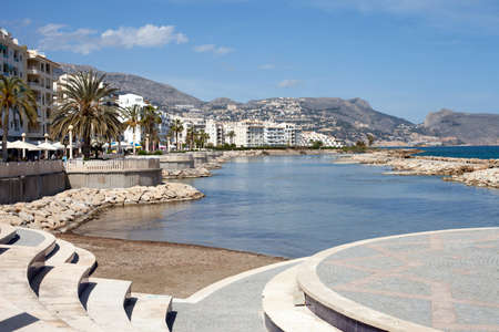 altea: Beach Promenade and Apartments of Altea, South East Spain