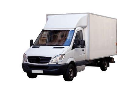 cargo transport: White cargo van front view