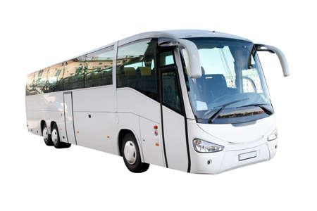 side light: Modern white long distance bus