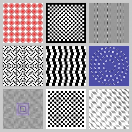 Optical (visual) illusions are characterized by visually perceived images that differ from objective reality. Vector