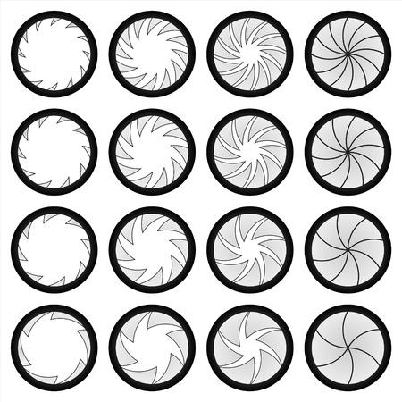 単純な葉のシャッターのような数のリーフ機構