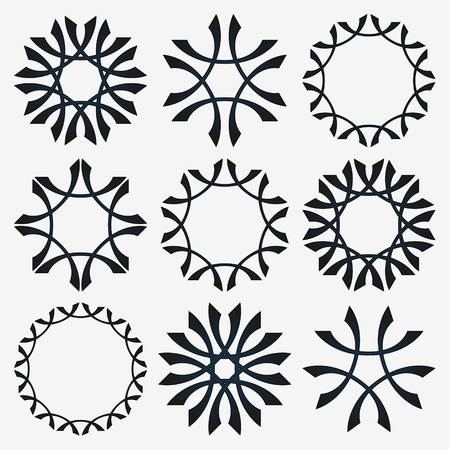 Simple set of design elements on a grey background Stock Vector - 20096004
