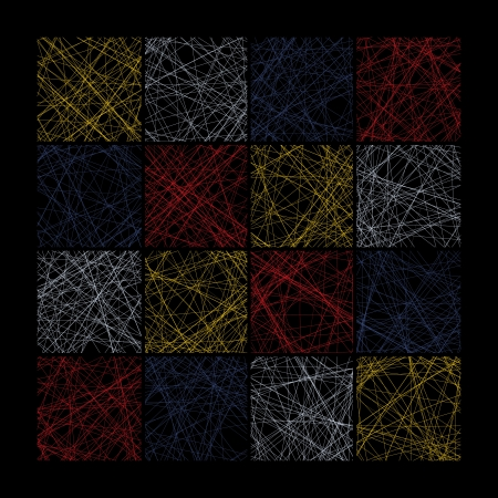 knotty: Abstract seamless pattern composed of colored squares
