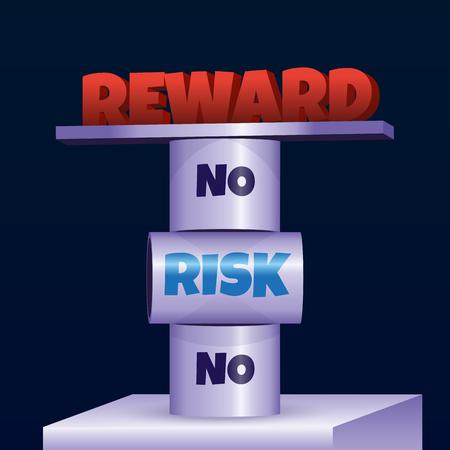 Circus trick. Rola Bola. No risk no reward. Illusztráció