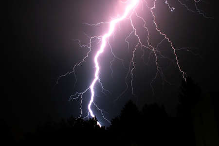 volts: A lightning in the night Stock Photo