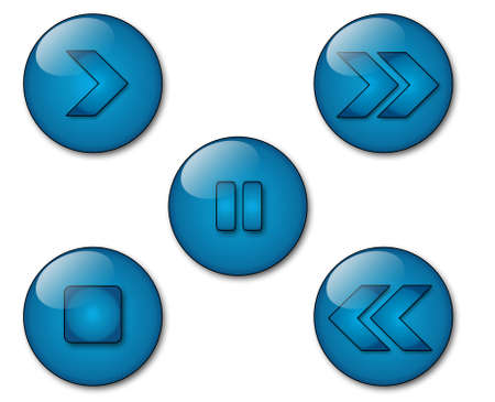 some aqua style icons with VCR symbols Stock Photo - 2909067