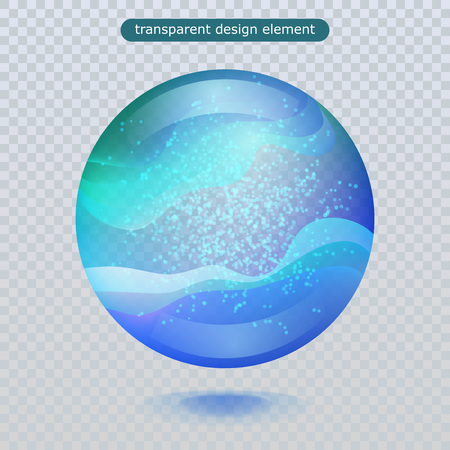 Water rain drop isolated on transparent background. Vector clear dew, water bubble or glass surface ball for your design. Vector ilustration. Eps10 Vettoriali