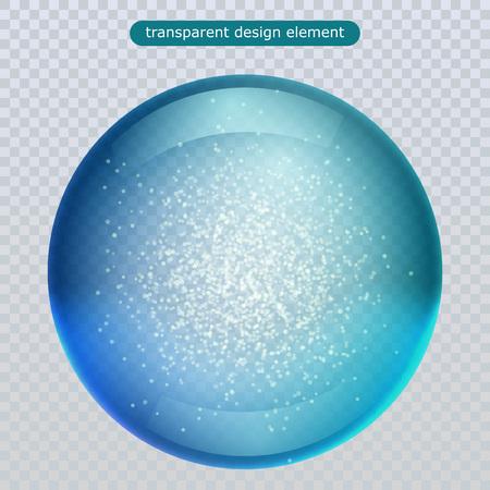 Wasserregentropfen lokalisiert auf transparentem Hintergrund. Vektorklarer Tau, Wasserblase oder Glaskugel für Ihr Design. Vektorillustration. eps10