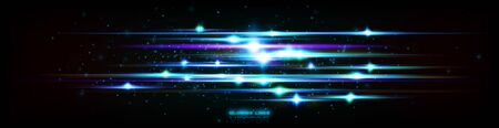 Glint cosmic rays. Power energy. Futuristic wave Flash. Magic sparks. Mystical shine streaks. Empty place. Neon wind lines. Glow effect. Beautiful light. Abstract background. Vector.