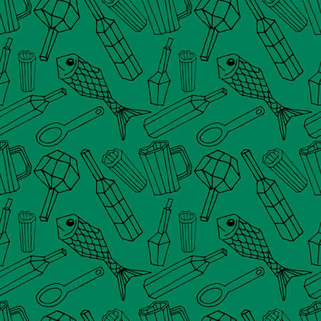 beverage decoration: Vector seamless pattern. Endless texture can be used for wallpaper, pattern fills, web page background, surface textures. Illustration