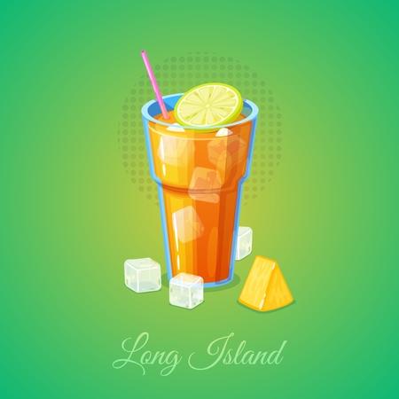 Long island ice tea cocktail.