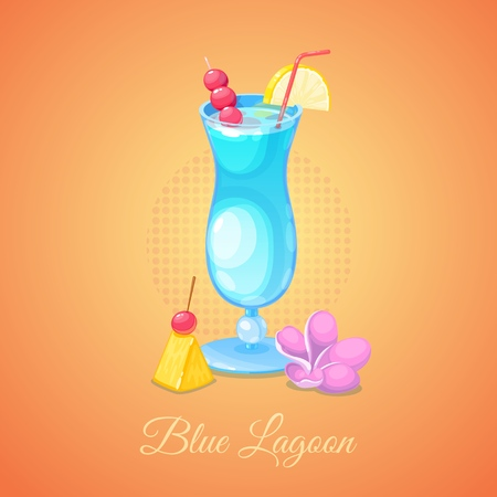 Blue Lagoon alcoholic cocktail.