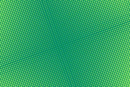 Pop art pattern with halftone. Comic dotted background. Green half tone print. Retro texture with bubbles. Cartoon splash effect. Vector illustration. Geometric modern duotone wallpaper.