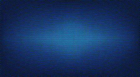 Led TV texture. Digital display. Blue videowall. Lcd monitor with points. Pixel screen. Electronic diode effect. Projector grid template with bulbs. Television background. Vector illustration. Vektorgrafik