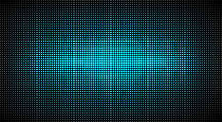 Led screen texture. Lcd monitor. Analog digital TV display. Turquoise television videowall. Electronic diode effect. Projector grid template. Vector illustration.