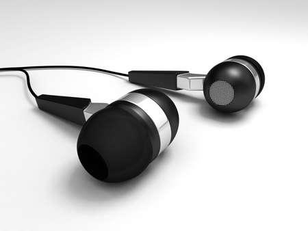Digital illustration of earphone in white background  earphone illustration