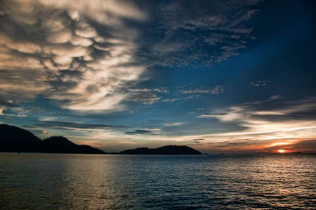 Sunset by the Beach, Malaysia photo