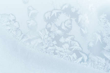Bright frosty pattern on the glass (abstract, background) 版權商用圖片
