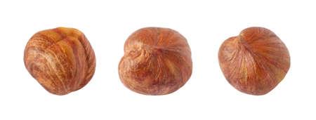 Hazelnuts, isolated on a white background 版權商用圖片