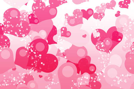 st valentin: Valentines day background with hearts Stock Photo