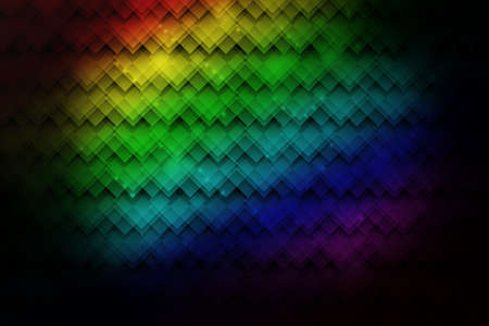 Bright neon colorful abstract background with geometric patterns photo