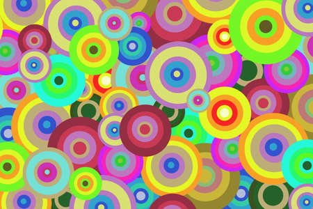 paintjob: Bright geometric abstract background of colored circles for design