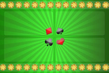 Green background for casino with the block for the text photo