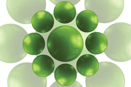 Bright abstract with balls Vector