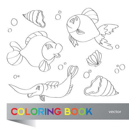 Vector Puzzle Para Niños - La Vida Marina Ilustraciones Vectoriales ...