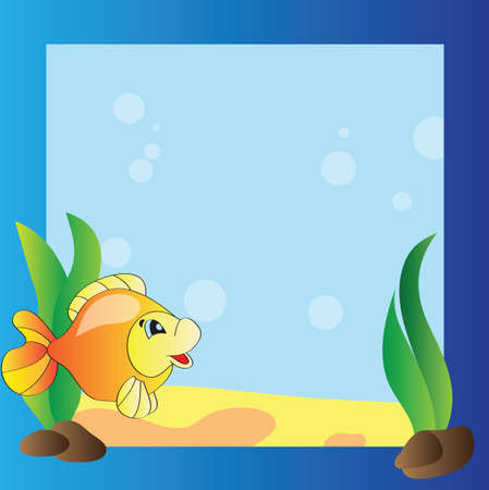 Vector frame - the marine life Vector