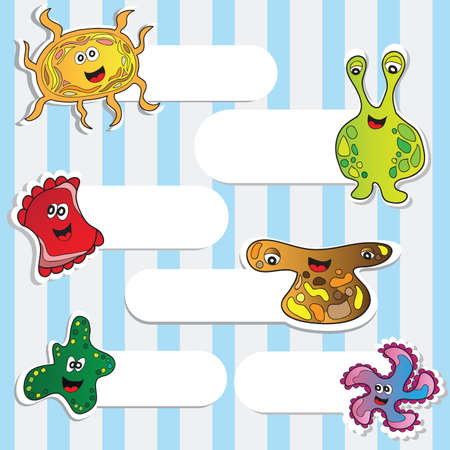 Funny Monsters Stickers  Vector