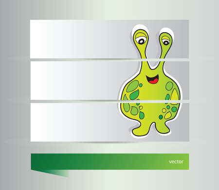 Funny Monster banners  Vector