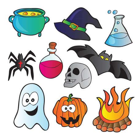 funny pictures: Halloween set - vector illustration with funny pictures Illustration