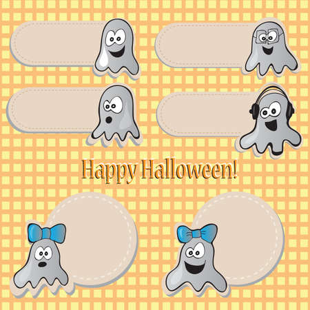 Halloween set - vector illustration with funny stickers Vector