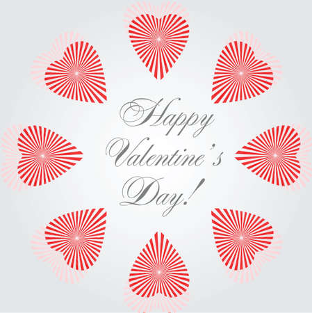 vector hearts - card for wedding and valentine design Vector